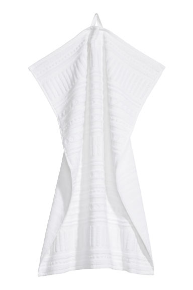 Burnout-patterned hand towel - White - Home All | H&M CN