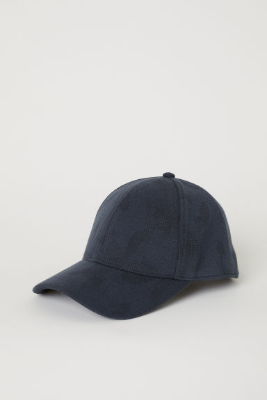 Cotton-blend cap - Steel blue/Black patterned - Men | H&M CN