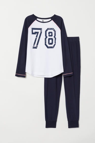 Jersey pyjamas - Dark blue/78 - Kids | H&M