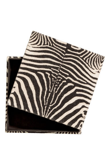 Zebra-print storage box - Natural white/Zebra print - Home All | H&M IE