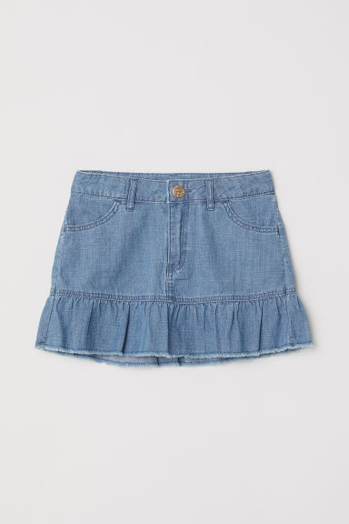 Flounced skirt - Blue/Chambray - Kids | H&M