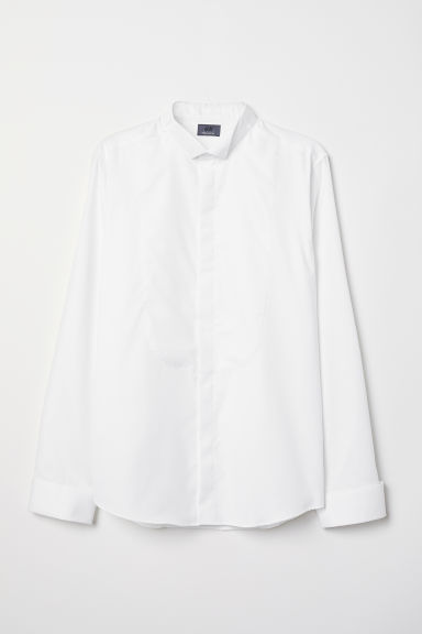 Camicia da smoking Slim fit - Bianco - UOMO | H&M IT