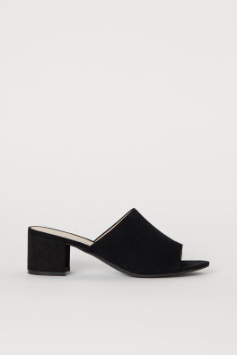 83c26a604 Block-heeled Mules