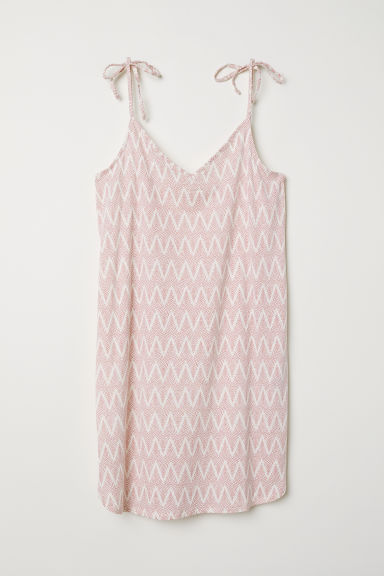 Modal-blend jersey dress - White/Pink patterned - Ladies | H&M