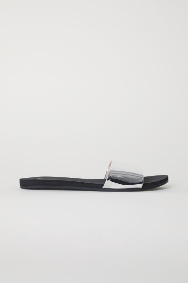Mules - Black/Silver-coloured - Ladies | H&M CN