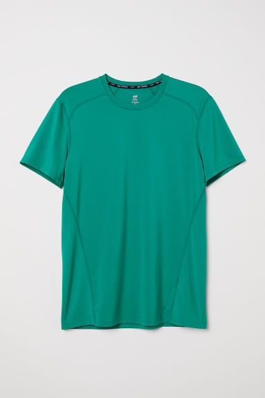 Short-sleeved sports top - Green - Men | H&M GB