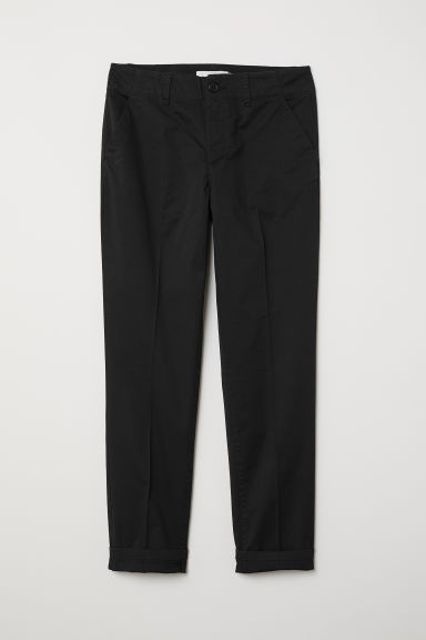 Cotton chinos - Black - Ladies | H&M