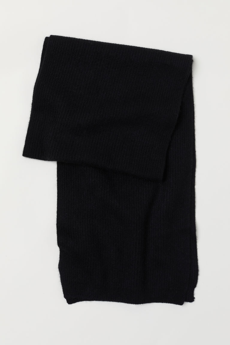 Cashmere scarf - Black - Men | H&M