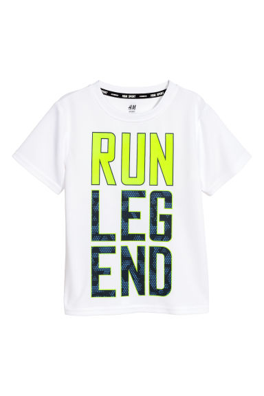 Short-sleeved sports top - White - Kids | H&M CN