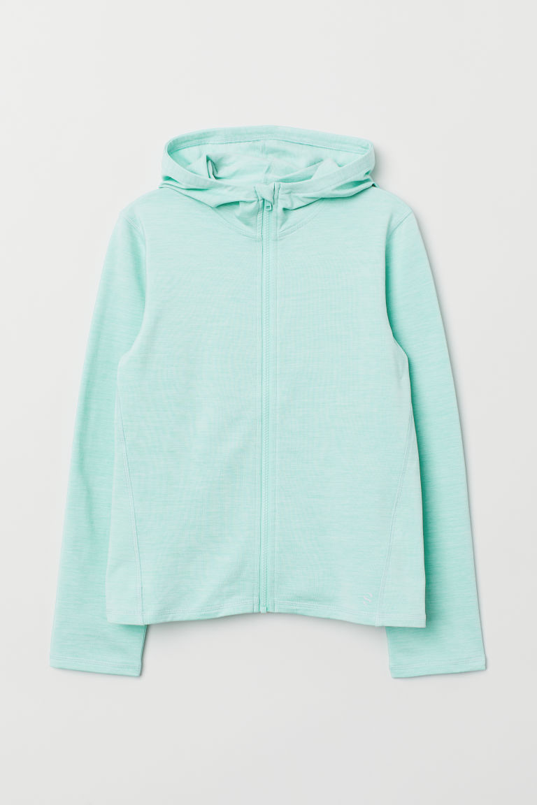 Hooded sports jacket - Mint green - Kids | H&M
