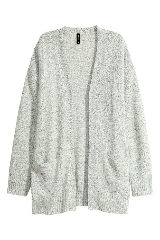 877b5826b660 Knitted cardigan - Natural white marl - Ladies