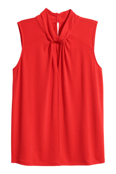 Jersey crêpe top - Red - Ladies | H&M