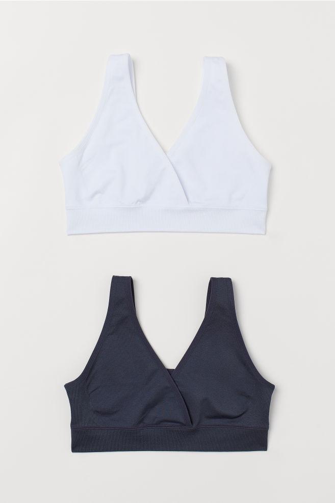 040e39bae MAMA 2-pack sleep nursing bras - Dark blue White - Ladies