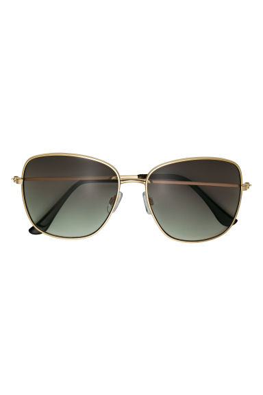 Sunglasses - Gold-coloured/Dark green - Ladies | H&M IE