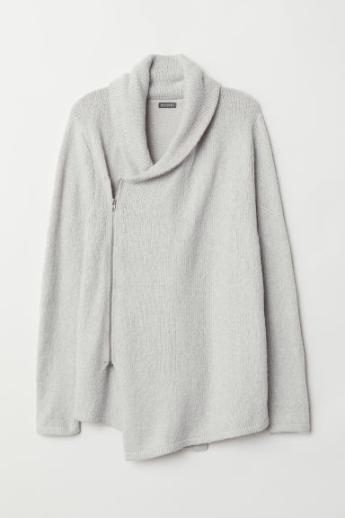 Zipped cardigan - Light grey - Men | H&M