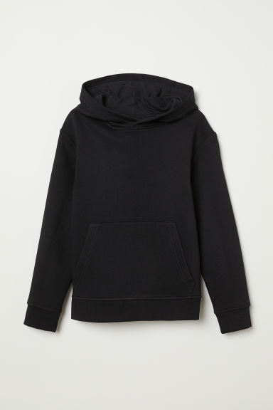 Hooded top - Black - Kids | H&M CN