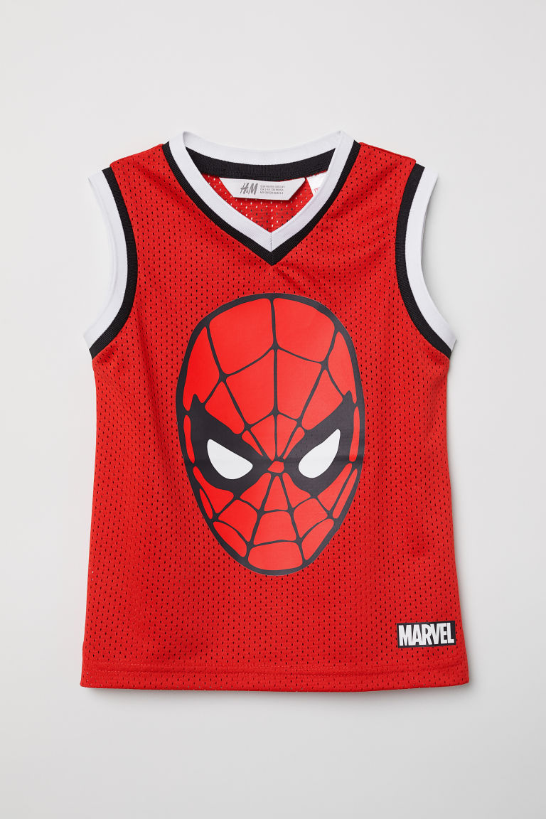 Basketball vest top - Red/Spider-Man - Kids | H&M CN