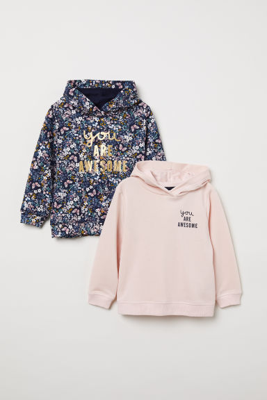 2-pack hooded tops - Dark blue/Awesome - Kids | H&M