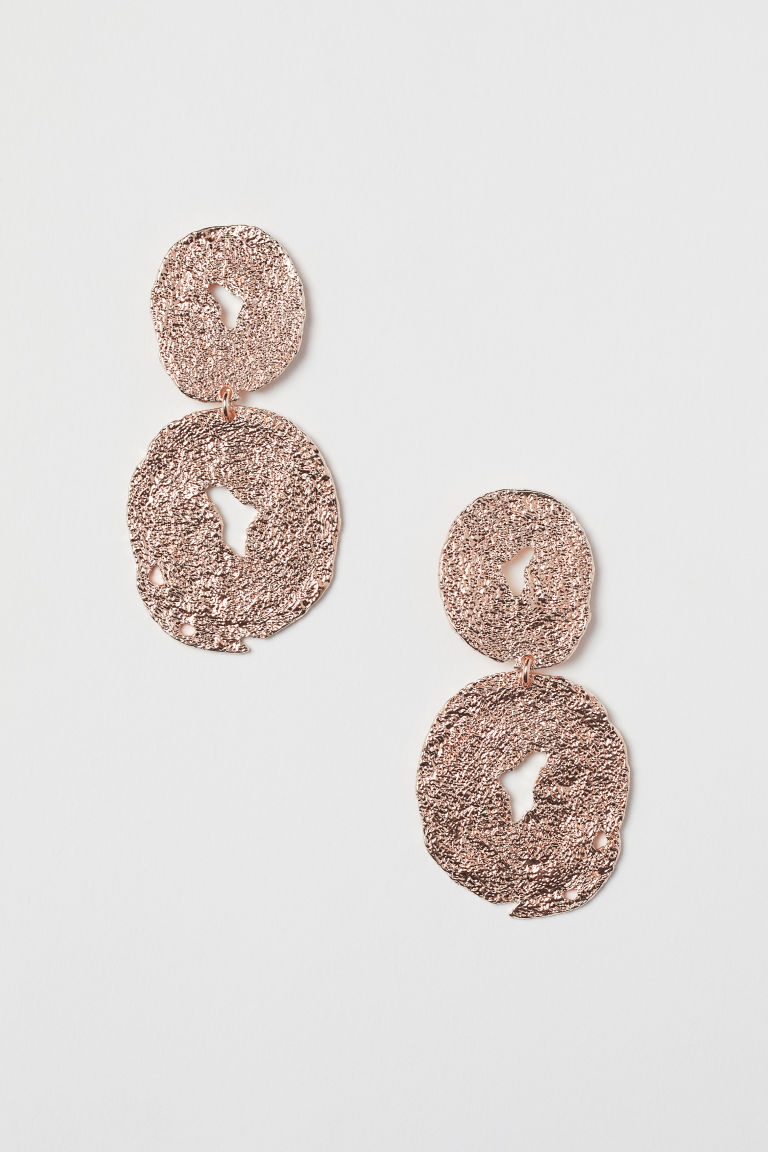 Large earrings - Rose gold-coloured - Ladies | H&M IE