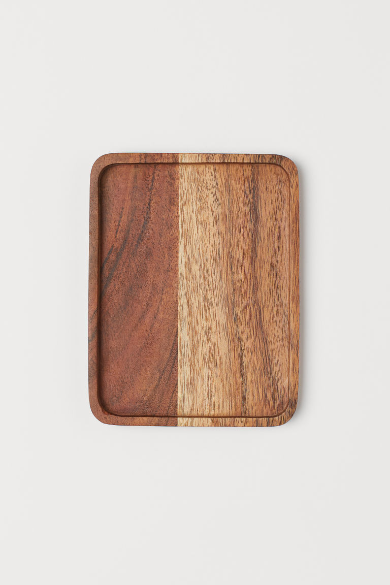 Small Wooden Tray - Wood/acacia wood - Home All | H&M CA