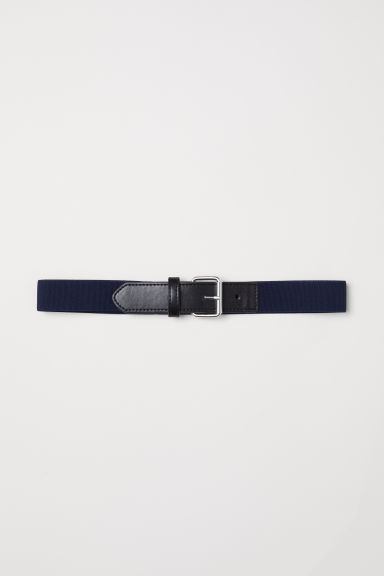 Elasticated belt - Dark blue/Black - Kids | H&M