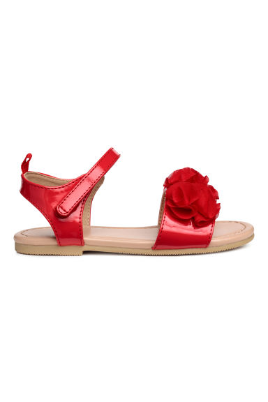 Sandalen met applicatie - Rood -  | H&M BE