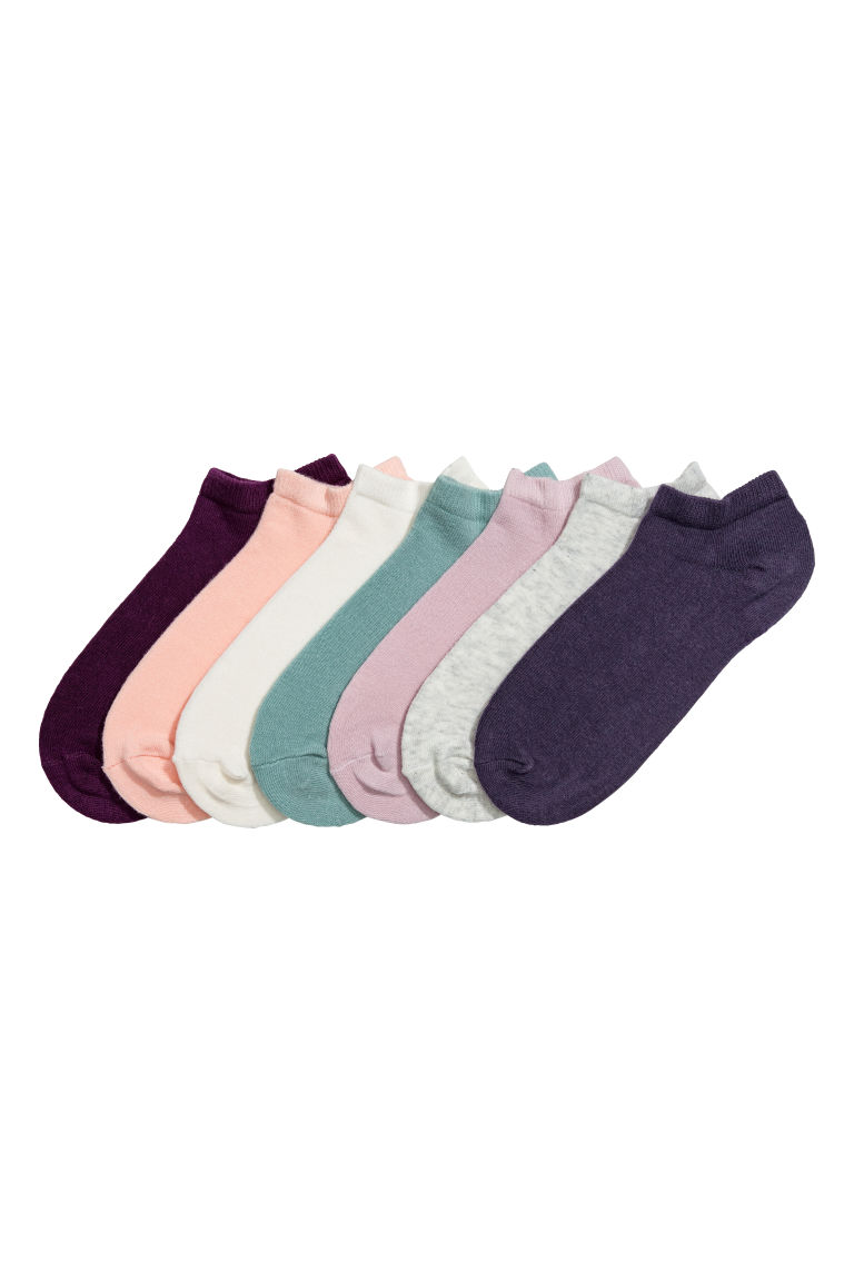 7-pack trainer socks - Dark purple - Kids | H&M