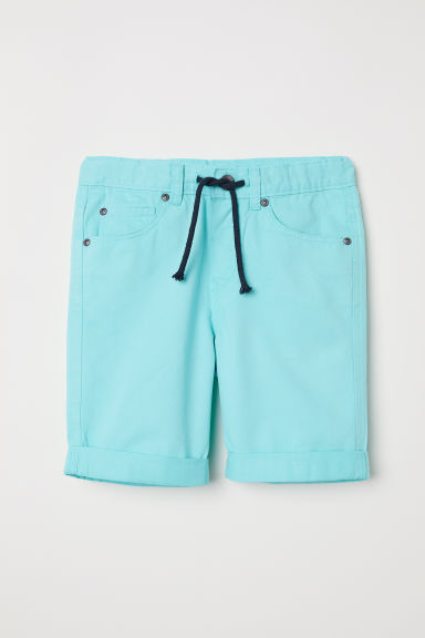 Twill shorts - Light turquoise - Kids | H&M CN