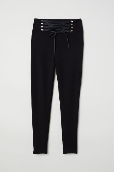 H&M+ Leggings with lacing - Black - Ladies | H&M