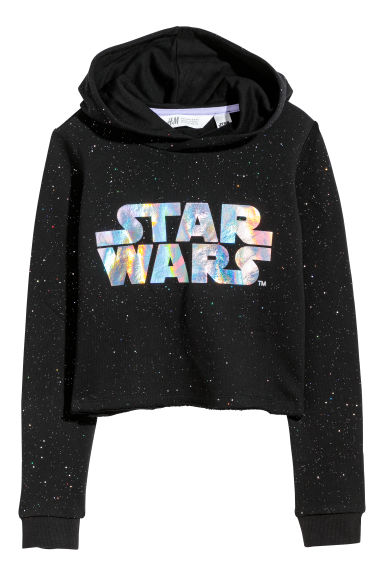 Sweat à capuche court - Noir/Star Wars -  | H&M FR