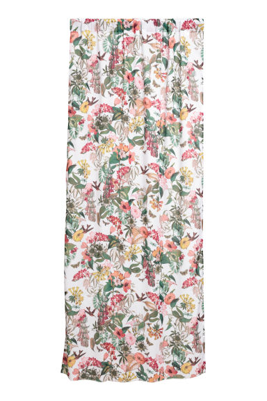 2-pack curtain lengths - Natural white/Floral -  | H&M GB