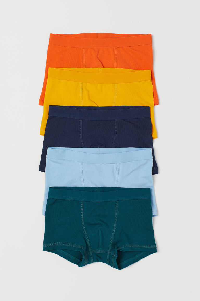 5-pack boxer shorts - Dark green/Multicoloured - Kids | H&M