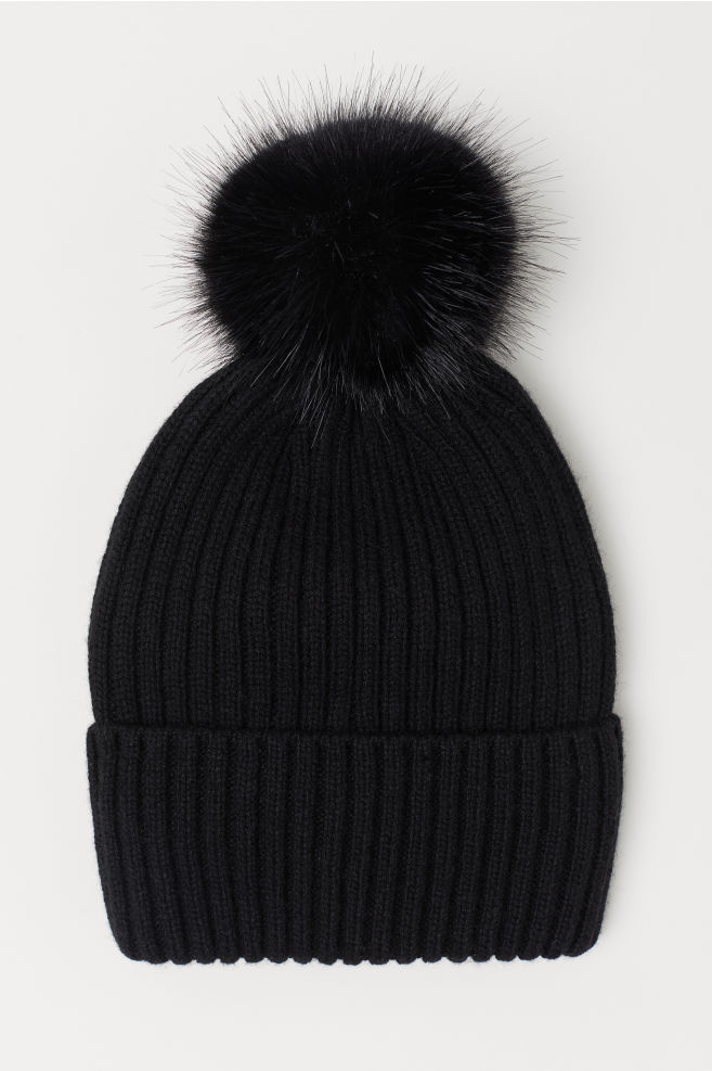 Ribbed Hat - Black - Ladies  cc167e86b3d