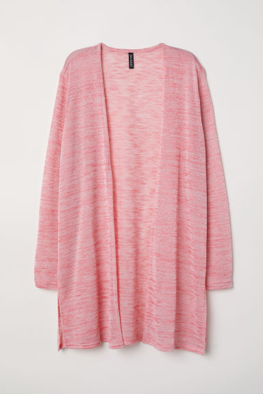 Fine-knit cardigan - Pink marl - Ladies | H&M CN