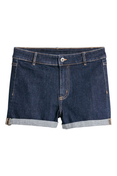 Shorts in denim - Denim blu scuro - DONNA | H&M CH
