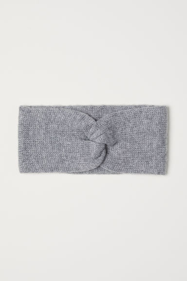 Knitted headband - Grey marl - Ladies | H&M IE