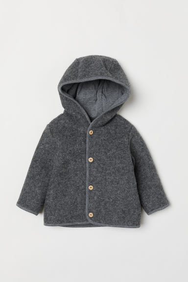 Wool-blend cardigan - Grey marl - Kids | H&M