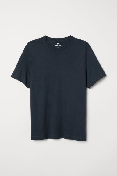 Round-neck T-shirt Regular fit - Dark blue - Men | H&M CN