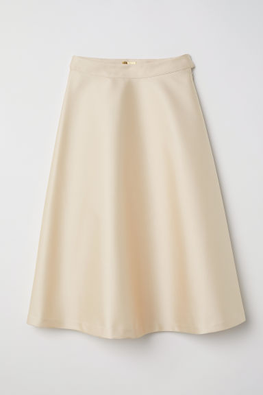 Satin skirt - Light beige - Ladies | H&M CN