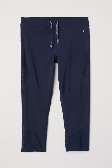 3/4-length running tights - Dark blue -  | H&M