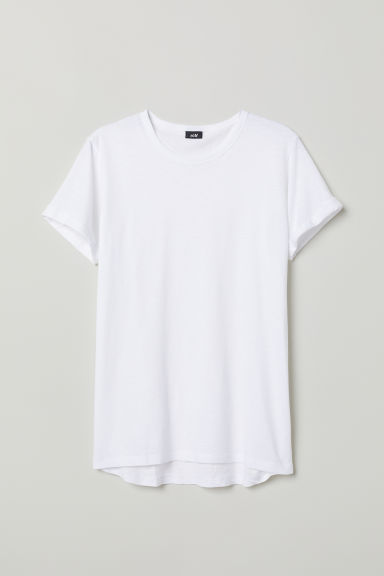 Slub jersey T-shirt - White - Men | H&M