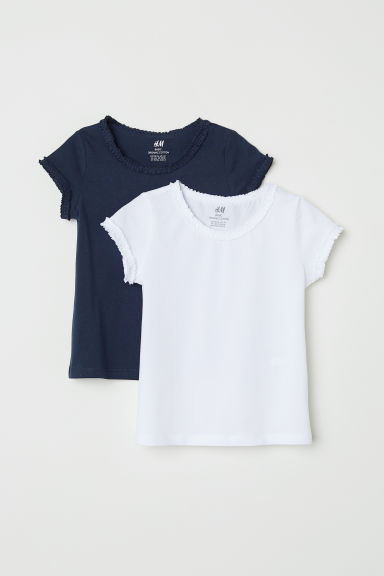 2-pack jersey tops - Dark blue -  | H&M
