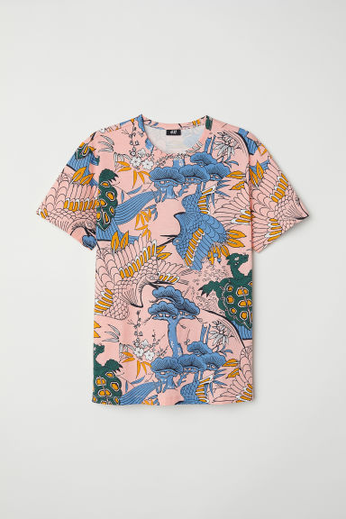 Printed T-shirt - Pink/Patterned - Men | H&M