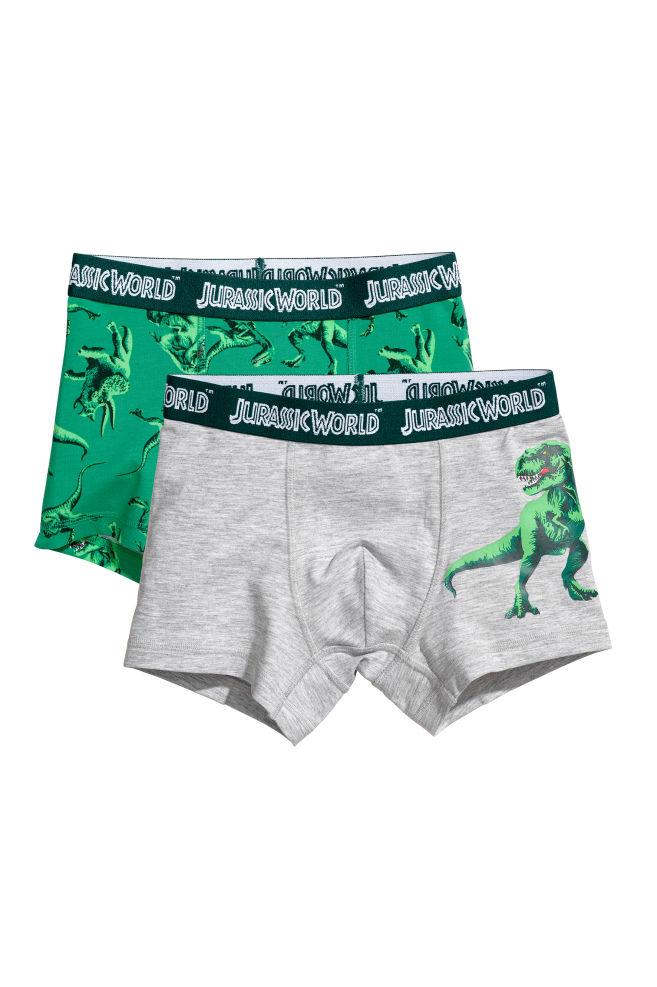 d62abfa860 2-pack boxer shorts - Green/Jurassic World - Kids | H&M 1