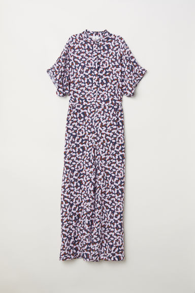 Patterned jumpsuit - Dark grey-blue/Patterned -  | H&M