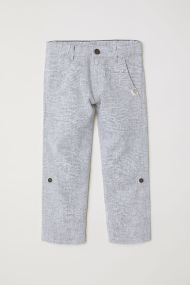 Roll-up trousers - Light grey -  | H&M