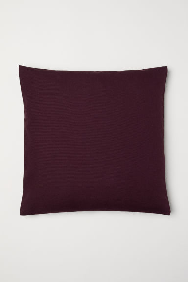 Canvas cushion cover - Burgundy - Home All | H&M CN