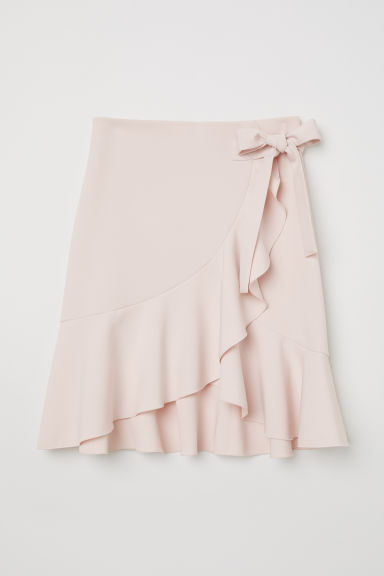Flounced skirt - Light pink - Ladies | H&M