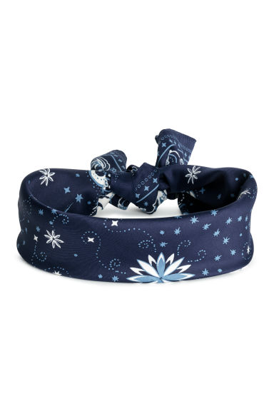 Scarf/Hairband - Dark blue/paisley - Ladies | H&M US