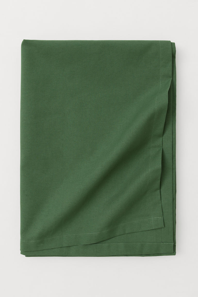 Cotton tablecloth - Dark green - Home All | H&M CN